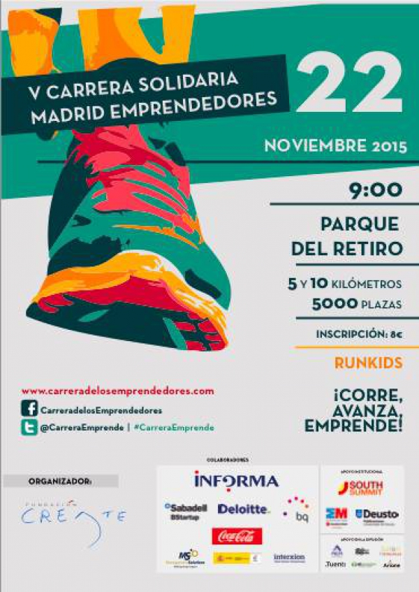 V Carrera Solidaria Madrid Emprende